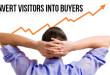 convert website visitors into buyers